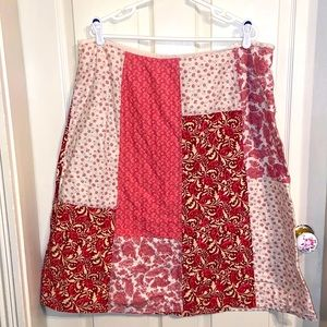 Elizabeth Patchwork A Line Skirt SZ 18